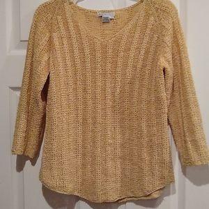 CO & Eddy pale yellow sweater, medium